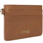 Lipault Plume Elegance Leather Card Holder Cognac 05387 - 2