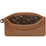 Lipault Plume Elegance Leather Card Holder Cognac 05387 - 3