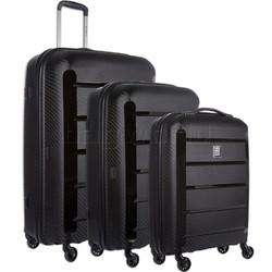Revelation Tobago Hardside Suitcase Set of 3 Black TOB77, TOB66, TOB56 with FREE GO Travel Luggage Scale G2006