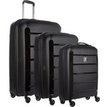 Revelation Tobago Hardside Suitcase Set of 3 Black TOB77, TOB66, TOB56 with FREE GO Travel Luggage Scale G2006
