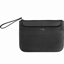 Lipault Plume Elegance Leather Clutch Black 91558