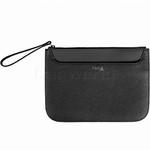 Lipault Plume Elegance Leather Clutch Black 91558
