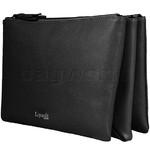 Lipault Plume Elegance Leather Multi Pouch Bag Black 05384 - 1