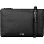 Lipault Plume Elegance Leather Multi Pouch Bag Black 05384