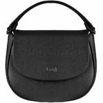 Lipault Plume Elegance Leather Saddle Bag Black 86218