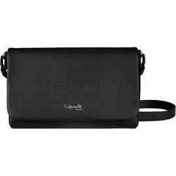 Lipault Plume Elegance Leather Clutch Bag Black 86219