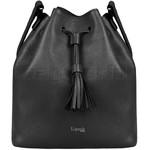 Lipault Plume Elegance Leather Bucket Bag Black 88894