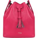 Lipault Plume Elegance Leather Bucket Bag Tahiti Pink 88894