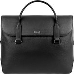 "Lipault Plume Elegance 14.1"" Laptop Leather Bailhandle Black 90836"