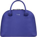 Lipault Plume Elegance Leather Handle Bag Exotic Blue 86216
