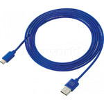 GO Travel 2M USB-C Cable Blue GO957