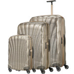 Samsonite Cosmolite 3.0 Anniversary Edition Hardside Suitcase Set of 3 Gold 05125, 05124, 05122 with FREE Samsonite Luggage Scale 34042