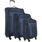 Antler Translite Softside Suitcase Set of 3 Blue 39015, 39016, 39026 with FREE GO Travel Luggage Scale G2006