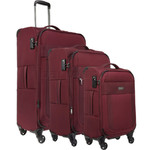 Antler Translite Softside Suitcase Set of 3 Burgundy 39015, 39016, 39026 with FREE GO Travel Luggage Scale G2006