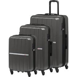 Qantas Bondi Hardside Suitcase Set of 3 Silver 74077, 74067, 74055 with FREE Go Travel Luggage Scale G2006