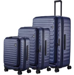 Lojel Cubo Hardside Suitcase Set of 3 Navy JCU55, JCU65, JCU78 with FREE Lojel Luggage Scale OCS27
