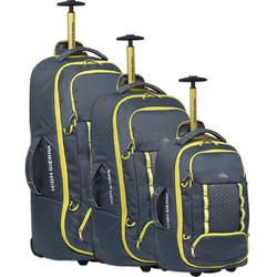 High Sierra Composite V3 Backpack Wheel Duffel Set of 3 Brutalist Grey 87274, 87275, 87276 with FREE Samsonite Luggage Scale 34042