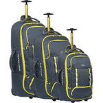 High Sierra Composite V3 Backpack Wheel Duffel Set of 3 Brutalist Grey 87274, 87275, 87276 with FREE Samsonite Luggage Scale 34042