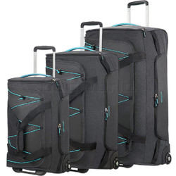 American Tourister Road Quest Wheel Duffle Set of 3 Graphite 07656, 07657, 07658 with FREE Samsonite Luggage Scale 34042