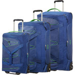American Tourister Road Quest Wheel Duffle Set of 3 Blue 07656, 07657, 07658 with FREE Samsonite Luggage Scale 34042