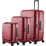 Lojel Cubo Hardside Suitcase Set of 3 Burgundy Red JCU55, JCU65, JCU78 with FREE Lojel Luggage Scale OCS27