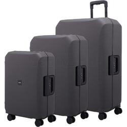 Lojel Voja Hardside Suitcase Set of 3 Black JVO55, JVO66, JVO77 with FREE Lojel Luggage Scale OCS27