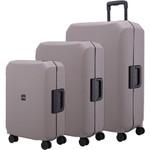 Lojel Voja Hardside Suitcase Set of 3 Warm Grey JVO55, JVO66, JVO77 with FREE Lojel Luggage Scale OCS27