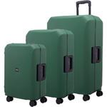 Lojel Voja Hardside Suitcase Set of 3 Seaweed JVO55, JVO66, JVO77 with FREE Lojel Luggage Scale OCS27