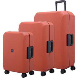 Lojel Voja Hardside Suitcase Set of 3 Terracotta JVO55, JVO66, JVO77 with FREE Lojel Luggage Scale OCS27