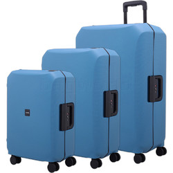Lojel Voja Hardside Suitcase Set of 3 Blue JVO55, JVO66, JVO77 with FREE Lojel Luggage Scale OCS27