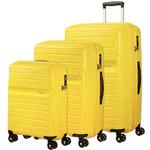 American Tourister Sunside Hardside Suitcase Set of 3 Sunshine Yellow 14140, 07527, 07528 with FREE Samsonite Luggage Scale 34042