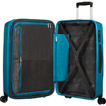 American Tourister Sunside Hardside Suitcase Set of 3 Teal 14140, 07527, 07528 with FREE Samsonite Luggage Scale 34042  - 5