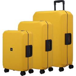 Lojel Voja Hardside Suitcase Set of 3 Yolk Yellow JVO55, JVO66, JVO77 with FREE Lojel Luggage Scale OCS27