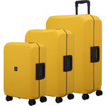 Lojel Voja Hardside Suitcase Set of 3 Yolk Yellow JVO55, JVO66, JVO77 with FREE Lojel Luggage Scale OCS27