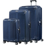 Samsonite Lite-Box Hardside Suitcase Set of 3 Deep Blue 79301, 79300, 79297 with FREE Samsonite Luggage Scale 34042