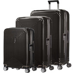 Samsonite Aspero Hardside Suitcase Set of 3 Metallic Black 91047, 91045, 91044 with FREE Samsonite Luggage Scale 34042