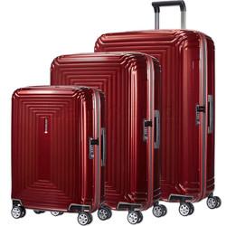 Samsonite Aspero Hardside Suitcase Set of 3 Metallic Red 91047, 91045, 91044 with FREE Samsonite Luggage Scale 34042