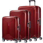 Samsonite Aspero Hardside Suitcase Set of 3 Metallic Red 91047, 91045, 91044 with FREE Samsonite Luggage Scale 34042