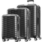 Samsonite Polygon Hardside Suitcase Set of 3 Dark Grey 11638, 11637, 11636 with FREE Samsonite Luggage Scale 34042