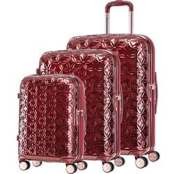 Samsonite Theoni Hardside Suitcase Set of 3 Red 10436, 10435, 10433 with FREE Samsonite Luggage Scale 34042