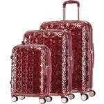 Samsonite Theoni Hardside Suitcase Set of 3 Red 10436, 10435, 10433 with FREE Samsonite Luggage Scale 34042