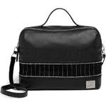 Lipault X Jean Paul Gaultier Leather Boston Bag Black 12382 - 1