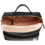 Lipault X Jean Paul Gaultier Leather Boston Bag Black 12382 - 4