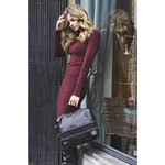 Lipault X Jean Paul Gaultier Leather Boston Bag Black 12382 - 6