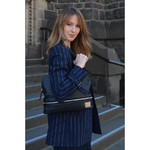 Lipault X Jean Paul Gaultier Leather Shopper Black 12385 - 6