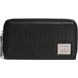 Lipault X Jean Paul Gaultier Leather Zip Around Wallet Black 12389