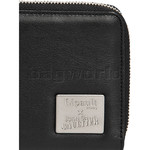 Lipault X Jean Paul Gaultier Leather Zip Around Wallet Black 12389 - 4