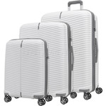 Samsonite Varro Hardside Suitcase Set of 3 White 12419, 12420, 12421 with FREE Samsonite Luggage Scale 34042
