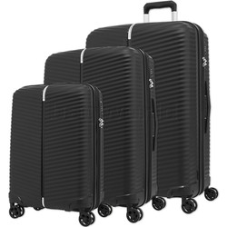 Samsonite Varro Hardside Suitcase Set of 3 Black 12419, 12420, 21166 with FREE Samsonite Luggage Scale 34042