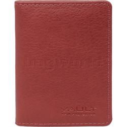 Vault Ladies' PU RFID Blocking Slimline Credit Card Holder Red W1013